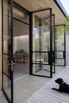 Guides to Choosing A Glass Door Design That'll Fit Your Hous.- Guides to Choosing A Glass Door Design That'll Fit Your House The Use of Glass Doors: 171 Modern Style Inspirations – Futurist Architecture - Door Design, Exterior Design, Glass House Design, Future House, My House, Casa Patio, Deck Patio, Backyard, Design Case