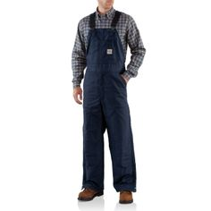 b72af06d10eb Carhartt Men s Big Flame-Resistant Mid-Weight Canvas Bib Lined Overall
