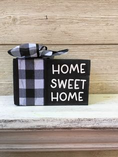 Excited to share this item from my #etsy shop: Home Sweet Home Wood Book Stack/Tier Tray Decor/Wood Books Decor/Tier Tray Sign #housewarming #white #entryway #countryfarmhouse #woodstack #homedecorwoodbook #tiertraybooks Diy Wood Books, Books Decor, Sweet Home, Tier Tray, Hand Painted Wine Glasses, Stack Of Books, Patriotic Decorations, Wood Glue, Make Arrangements