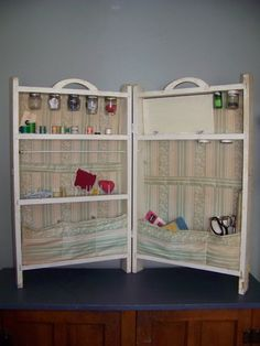 Vintage Sewing Cabinet  Handmade and special by bmegdesigns, $110.00