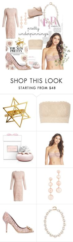 """""""Pretty underpinnings"""" by debbie-riley ❤ liked on Polyvore featuring Hanky Panky, Chando, Free People, Dolce&Gabbana, Rebecca Minkoff, Stella + Ruby and LC Lauren Conrad"""
