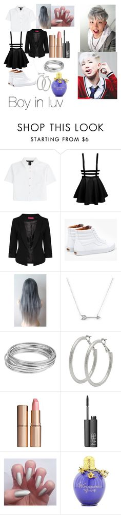 """""""Rap monster"""" by kpopjpg ❤ liked on Polyvore featuring Marc by Marc Jacobs, Boohoo, Vans, Adina Reyter, Worthington, M&Co, Charlotte Tilbury, NARS Cosmetics, women's clothing and women"""