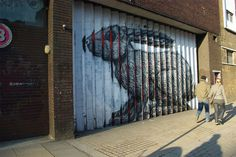 Lenticular Street Art by Roa street art