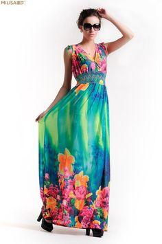 (204)plus size long floral mix beach evening prom party dress m-5xl 637c2312bfe3