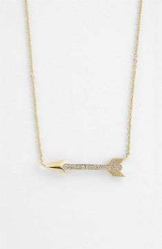 Nadri pavé-crystal arrow necklace.