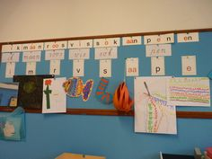 Veilig leren lezen: kern 1 - overzichtsbord in de klas