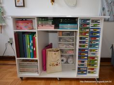 Sewing room cutting and storage table - pronta