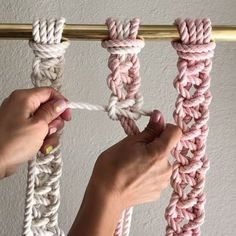 Square Knot Switch // Hi! This video shows you how to do a square Knot with a switch of cords. You simply switch your filler cords with your working cords after each square knot is complete. It creates a mesh and would be great in both wall hangings and plant Hangers. // If you're new here, Hello. I offer DIY Macrame Patterns and Kits at the link in my bio ➡️ @reformfibers or at reformfibers.etsy.com Also, You can find more helpful videos at #TGIFF➰ and #ThankGoodnessItsFiberFriday // Yo...