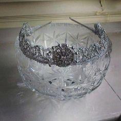 Vintage Diamante Headband by Melanie Brooks Bespoke Tiaras & Headpieces x