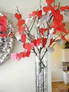 Valentine's Day Tree- could be a centerpiece or even just a decoration for the house.