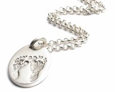 Ten Tiny Toes Pendant on a Chain