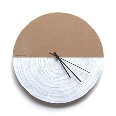 Spiral Wall clock - hand painted to ensures a singular product of beauty and distinction!