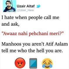 Uzair Altaf (@uzairaltafofficial) • Instagram photos and videos Funny Attitude Quotes, Funny True Quotes, Funny Thoughts, Jokes Quotes, Sarcastic Quotes, Funny Relatable Memes, Funny School Jokes, Some Funny Jokes, Crazy Funny Memes