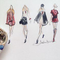 Jeanette Getrost fashion illustration, tommy hilfiger SS15