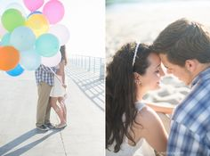 Beach + Balloons Couples Session » Jessica M. Wood Photography