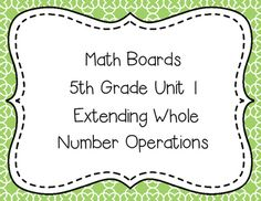 TEKS Resource System Unit 1 Stations for 5th grade!  Print, fill the board and your stations are rigorous and engaging! (Directions for making the board are included) Task Cards plus 4 games practicing estimation, multiplication and division of whole numbers are included!