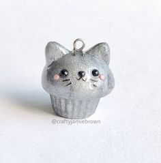 Hello and Happy Wednesday!  Here's a kawaii cat charm! I love the color! #polymerclay #polymerclaycharms #handmade #madebyme #kawaii #sculpey #premo #cute #charms #cat #art #jewelry #miniaturesweethk #miniature #uvresin #crafty #crafts