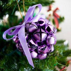Two of my favorite things - purple & bells - love this ornament
