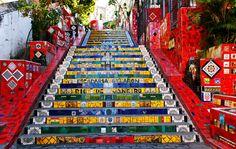 escadaria lapa rio de janeiro - #selaron #escada #Riodejaneiro #lapa