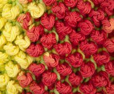 Learn how to make Tunisian bobble-like stitch. Tunisian Pebbles Dishcloth - Media - Crochet Me