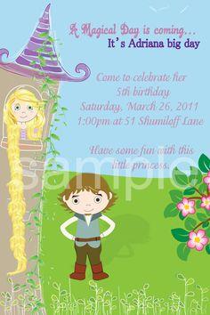 Rapunzel Birthday invitation Design