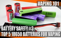 Part 3 of the battery safety series looks at the best 18650 batteries for different styles of vaping at different Amperages - based on tests by Mooch.