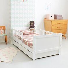 TIP! #Peuterbed Wit 140x70 incl. matras | Petite Amélie via kinderkamerstylist