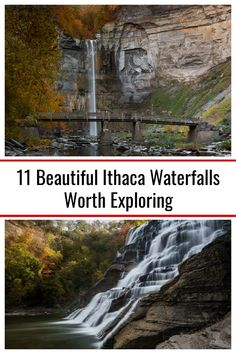 As someone that loves waterfalls, Ithaca, New York is an amazing place to visit. And during my visits to the region, I've had a chance to visit many beautiful Ithaca waterfalls. Ithaca Waterfalls, Ithaca Falls, Travel Around The World, Around The Worlds, Falls Creek, Pedestrian Bridge, Beautiful Waterfalls, Months In A Year, Cool Places To Visit
