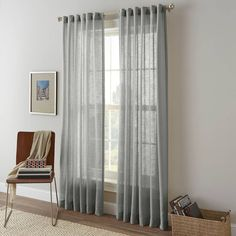 product image for Shimmer Sheer Rod Pocket Window Curtain Panel