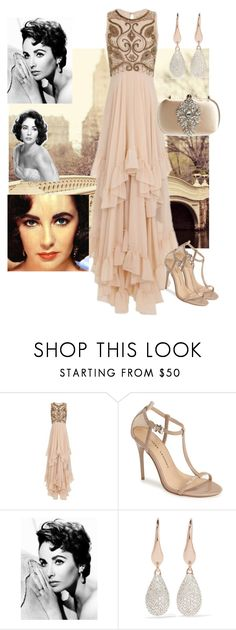 """Iconic Nudes"" by stina715 on Polyvore featuring Frock and Frill, Chinese Laundry, Elizabeth Taylor, Monica Vinader, Badgley Mischka, nude and iconic"