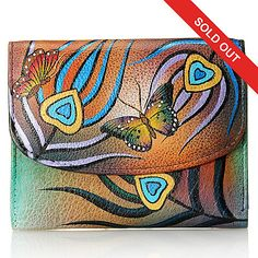 8e5b9973c03 Anuschka Hand-Painted Leather Tri-Fold Wallet
