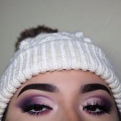 Close up from yesterday's look  Purple ombré half cut crease  Details in my previous post  #anastasiabeverlyhills #modernrenaissance #morphe #morphe35p #purple #cutcrease #halfcutcrease #makeup #brows #lashes #undiscovered_muas #motd