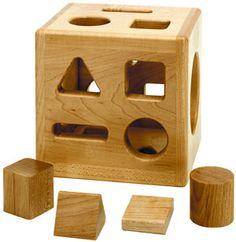 TAG Toys maple shape sorter