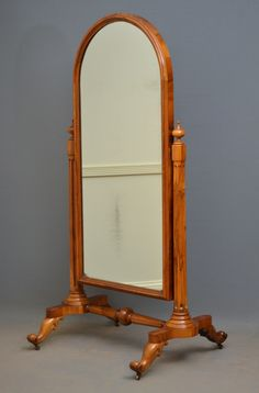 Victorian Walnut Cheval Mirror, c. Woodworking Videos, Woodworking Furniture, Antique Furniture, Modern Furniture, Wood Furniture, Timber Mouldings, New Technology Gadgets, Cheval Mirror, Antiques For Sale