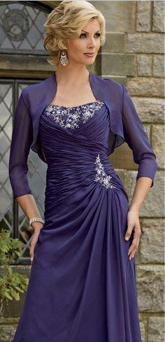 Amazing strapless purple taffeta empire sleeveless pleated applique floor Mother Of The Bride Dress MBD257130