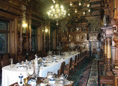 The Peles Castle  // Hidden passages connecting rooms and floors add to the castle's charm and mystery. Just as in fairytales, lockers open up not into wardrobes, but into splendid suites