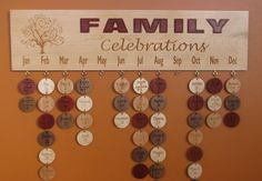 Family Celebration Board/Calendar