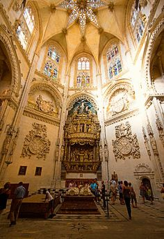 Capilla de los Condestables o del Condestable. Catedral de Burgos. Pensada como panteón familiar (Familia Velasco-Mendoza).