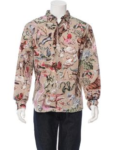 Valentino Printed Button-Up Shirt w/ Tags