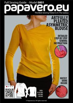 Artfully pleated blouse, height 156cm (5ft 1in)   Craftsy