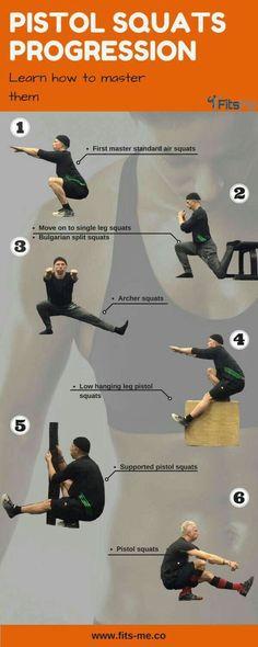 Pistol squat progression.