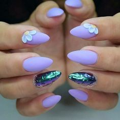 Purple and lily nails for prom prom nail designs 2018 маникю Burgundy Nails, Blue Nails, White Nails, Glitter Nails, Lily Nails, Nail Art Designs, Nailart, Prom Nails, Nails 2018