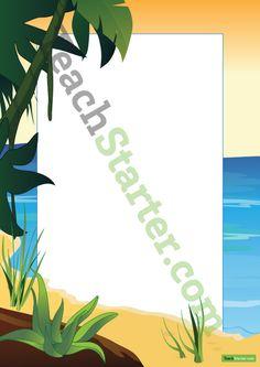 Beach Page Border   Teaching Resources - Teach Starter