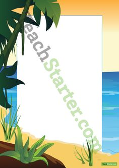 Beach Page Border | Teaching Resources - Teach Starter