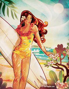 """""""Sunset Beach"""" by Kat Reeder"""