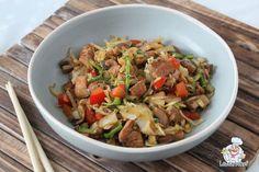 Koolhydraatarme bami goreng Best Egg Salad Recipe, Salad Recipes, Low Carb Recipes, Cooking Recipes, Healthy Recipes, Asian Cooking, Healthy Cooking, Authentic Chinese Recipes, Brunch Recipes