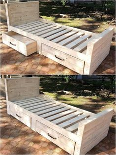 1 pallet bed plan with storage