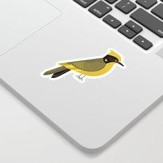 Helmeted Honeyeater, Bird of Australia Sticker by theprintedsparrow