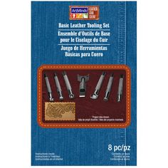 This set is a great introduction to stamping designs on vegetable-tanned leather.