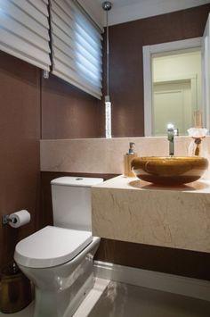 Banheiros e Lavabos Decorados com Cubas Douradas!